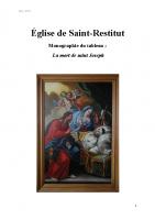 La Mort de saint Joseph – Monographie – vf 5mar21