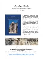 Présentation du livre L'Apocalypse et le saint vf jul2019